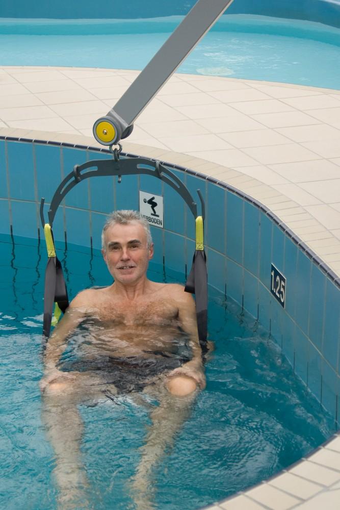 Handi-Move Der Schwimmbadlifter , Badesitz , Klassische Standard-Einhängevorrichtung