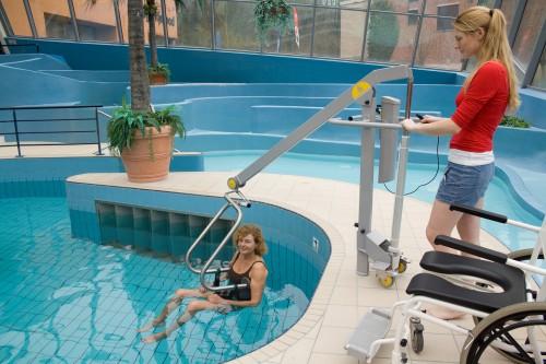 Der Schwimmbadlifter, Patientenlifter