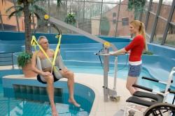Klassische Standard-Einhängevorrichtung , Der Schwimmbadlifter , Badehebetuch