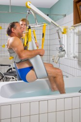 Standard-Einhängevorrichtung , Wandlifter , Badehebetuch